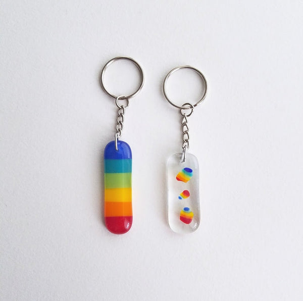Fused Glass Keychain
