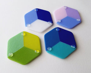Fused Glass Hexagons