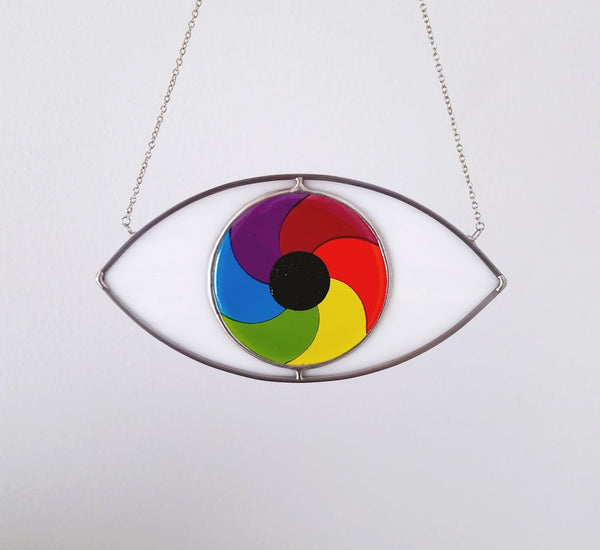 Rainbow Swirl Eye Suncatcher