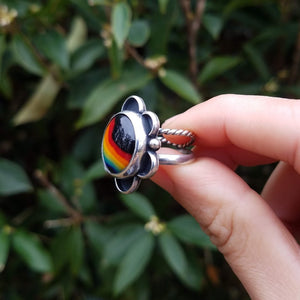 Rainbow & Black Ring