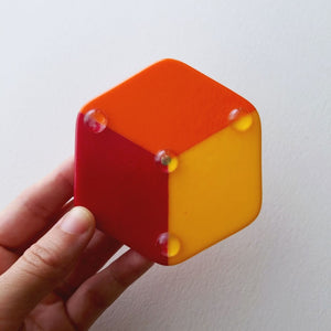 Fused Glass Hexagon Incense Holder
