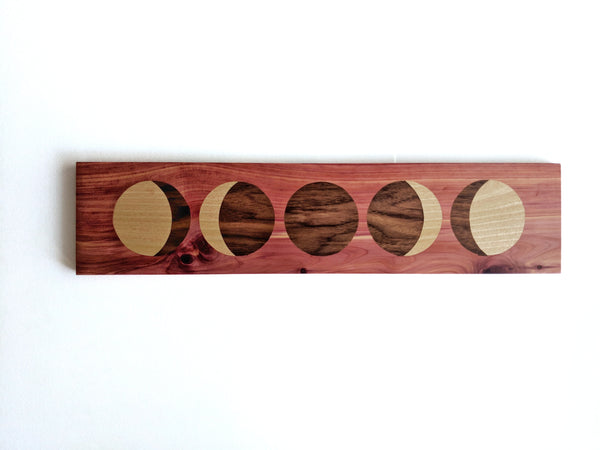 Wooden New Moon Phase Wall Hanging