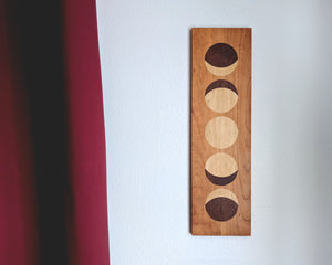 Wooden Full Moon Phase Wall Hanging