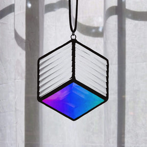 Aura Diamond Bevel Suncatcher