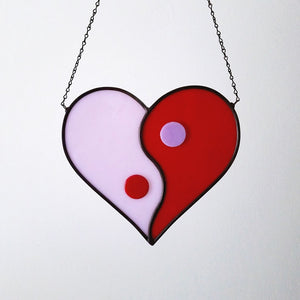 Yin Yang Heart Wall Hanging
