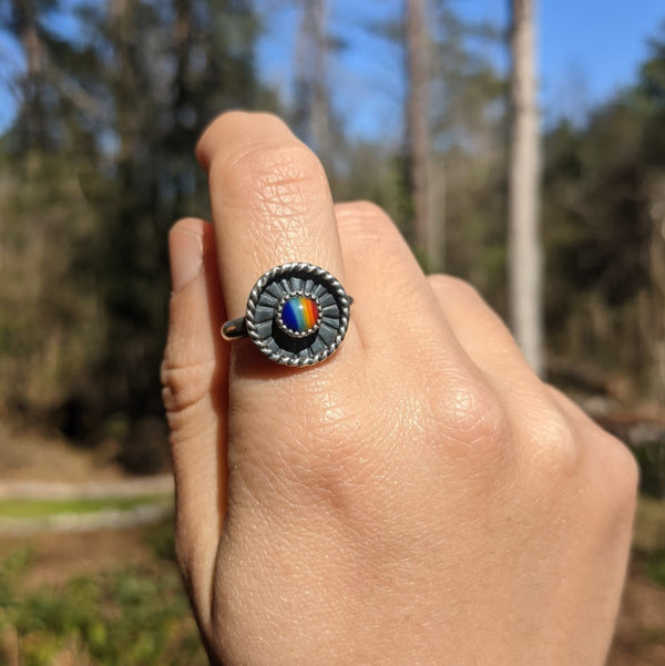 Mini Rainbow Circle Ring