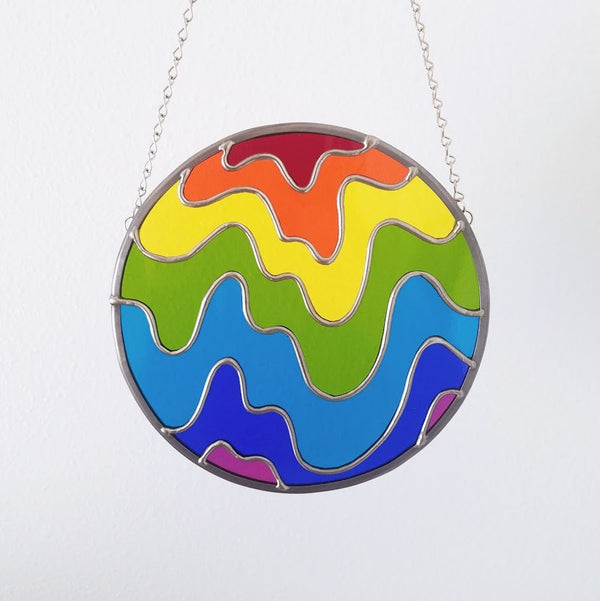 Melting Rainbow Suncatcher