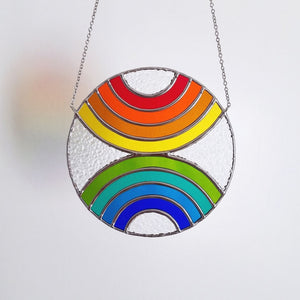 Converging Rainbows Suncatcher
