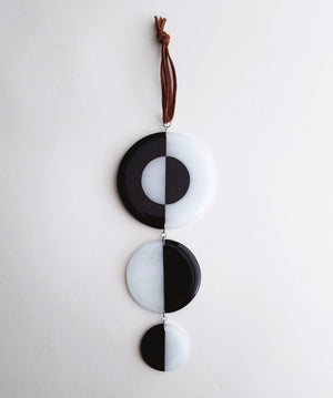 Fused Glass Taijitu Wall Hanging