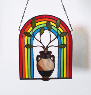Rainbow with Amphora Suncatcher