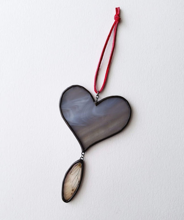 Heart with Wing Suncatcher