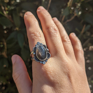 Black Sunstone Ring