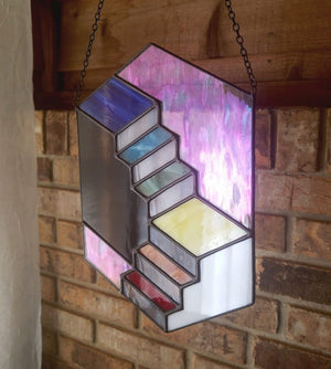 Rainbow Double Staircase Suncatcher