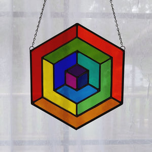 Charity Raffle Ticket for Colorful Cubes Suncatcher