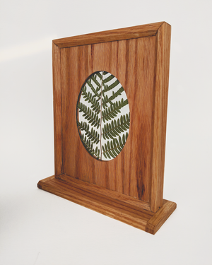 Pressed Fern in Standing Wood Frame