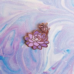 Flowering Succulent Enamel Pin