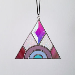 Prismatic Triangle Suncatcher
