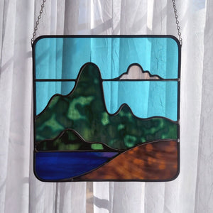 Mountainscape with Lake Panel