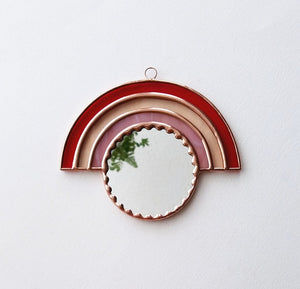 Rainbow Mirror Wall Hanging