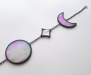 Moon Phases with Bevels Suncatcher
