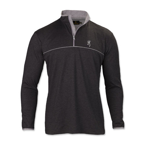 Browning Highline 1/4 Zip Shirt, Heather XXX-Large