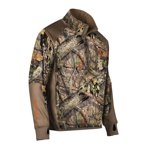 Browning Hell's Canyon Performance Fleece 1/4 Zip Jacket, Mossy Oak Breakup Country Medium