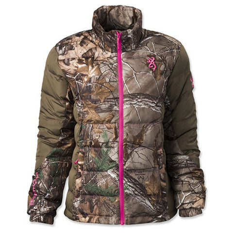 Browning Hell's Belles Blended Down Jacket Mossy Oak Break-Up Country/Tan, Large