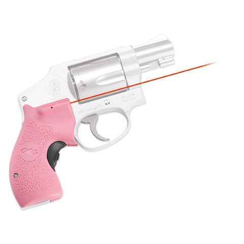 Crimson Trace Smith and Wesson J-Frame Round Butt Lasergrip,Front Activation-Pink