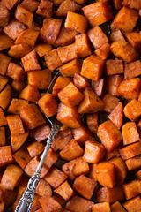 Roasted Sweet Potato with Cinnamon Honey