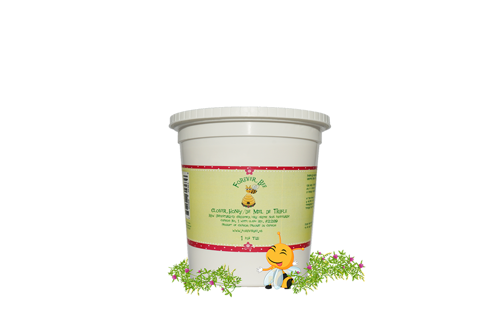 Raw, Creamed Clover Honey - 1kg Plastic Tub