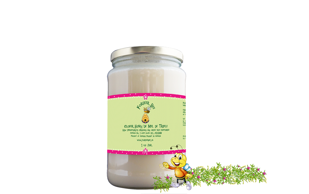 Raw, Creamed Clover Honey - 1kg Glass Jar