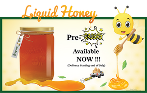 Liquid Honey - 70lb Pail - Pre-Orders