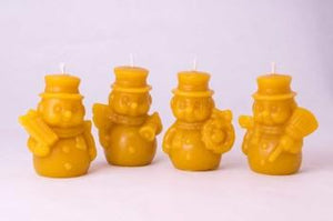 Candles - Snowman Beeswax Candle
