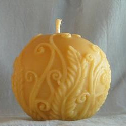 Decorated Ball Beeswax Candle
