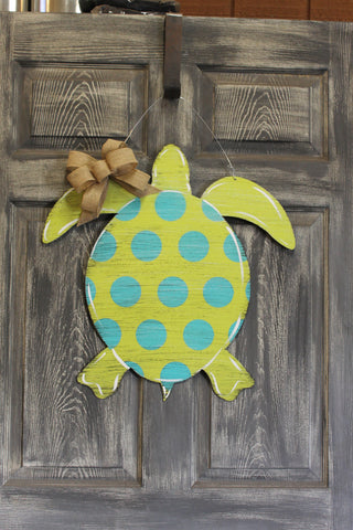 "22"" Sea Turtle doorhanger or yard stake"
