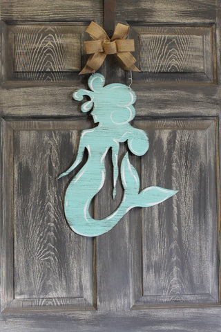 "22"" Mermaid door hanger more colors available"