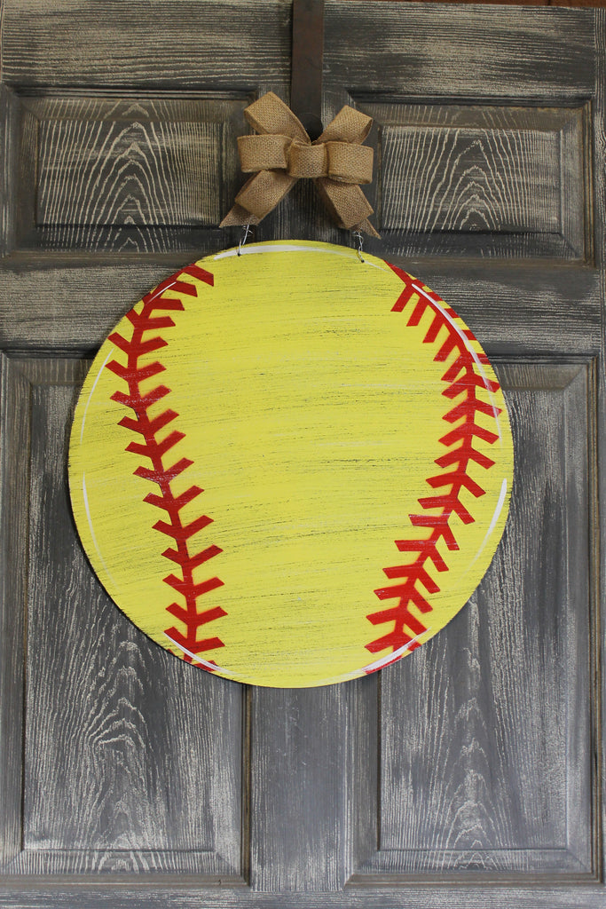 "20""  softball door hanger or yard stake"