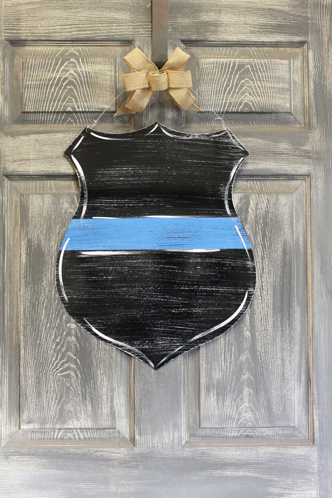 "22"" Police Badge doorhanger or yard stake"