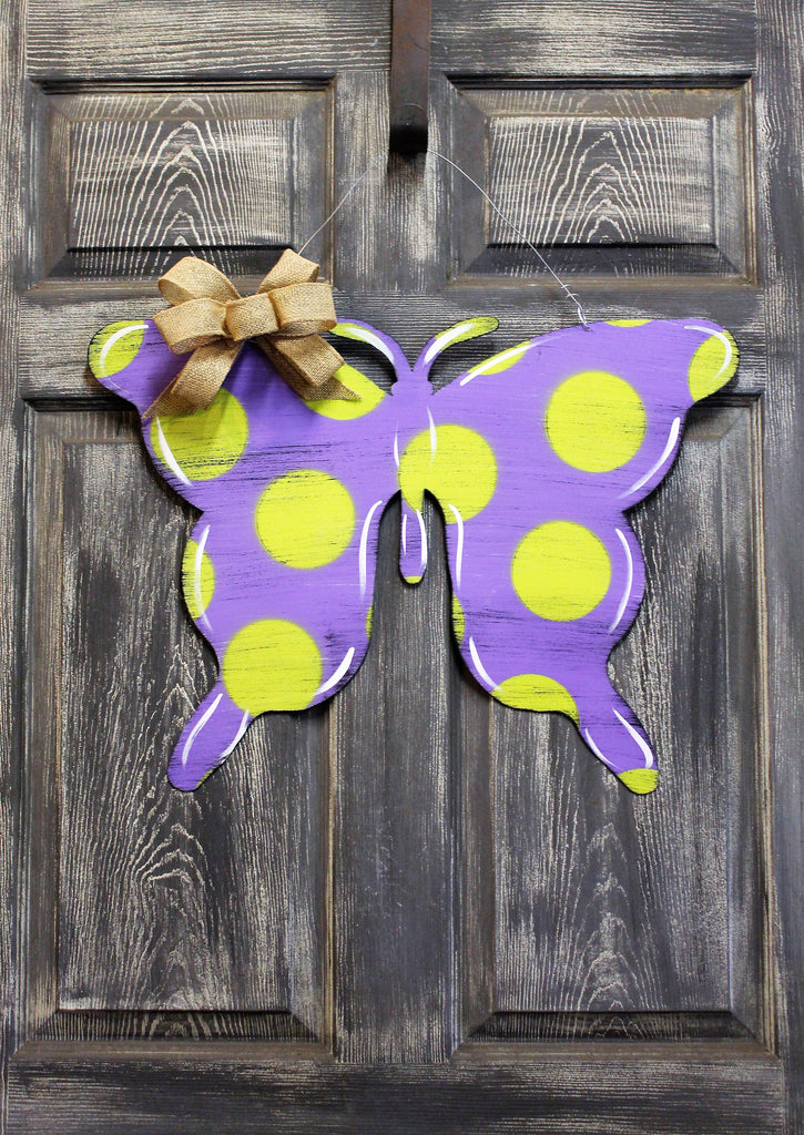 "Butterfly doorhanger or yard stake 24"" more colors available"