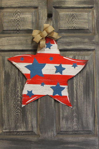 "Star Doorhanger 22""x22"""