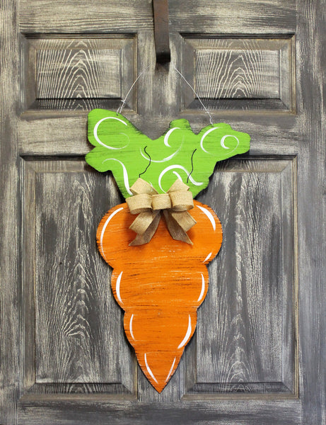 "Carrot Door Hanger 27""x13"" more patterns available"