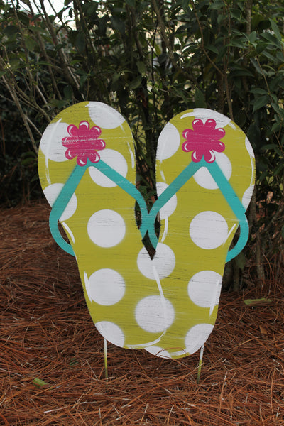 "Flip Flop Doorhanger and Yard Stakes 23""x19"" More Colors Available"