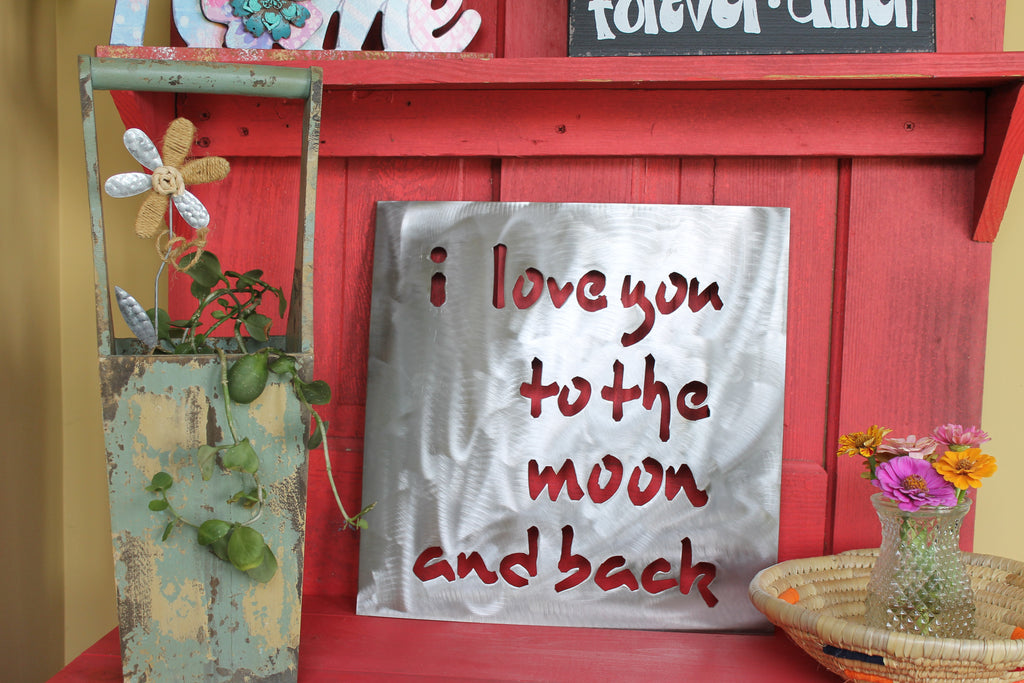 "I Love you to the moon and back 15""x15"""