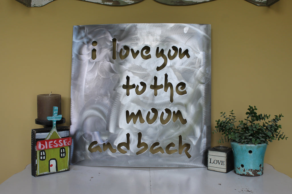 I love you to the moon and back 24x24