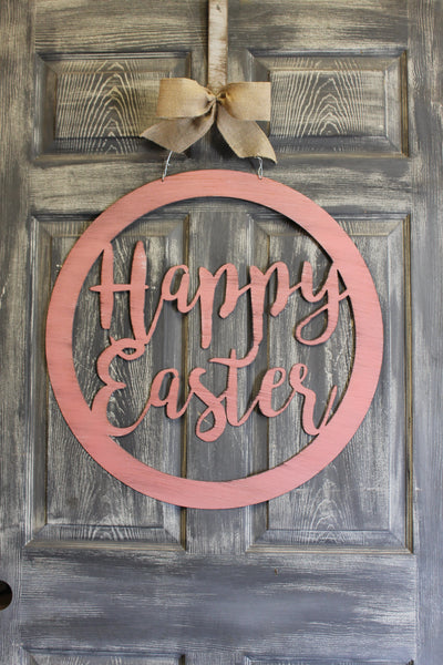 Happy Easter door hanger 22""