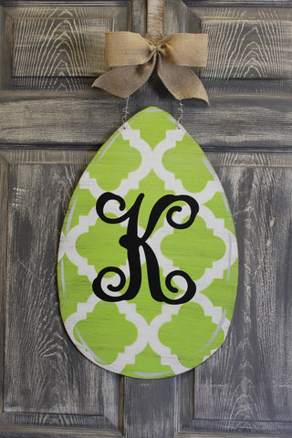 Egg door hanger or yard stake qutra more colors available 22x14""