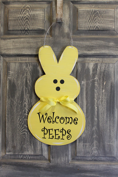 "Peep door hanger or yard stake 22x13"" more colors available"