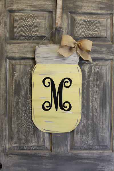 "22"" Mason jar doorhanger more colors available"