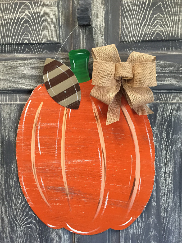 "Pumpkin Door Hanger and Yard Stakes 22""x17"" More Colors Available"