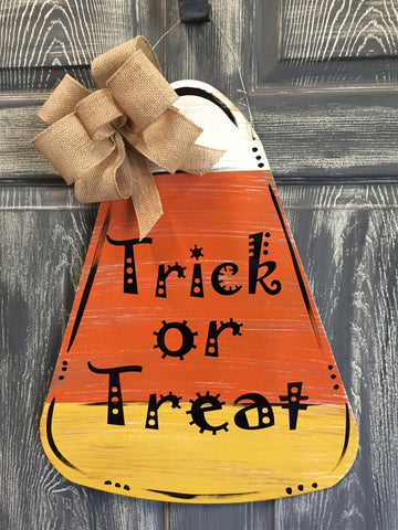 "Candy Corn Door Hanger 22""x17"""